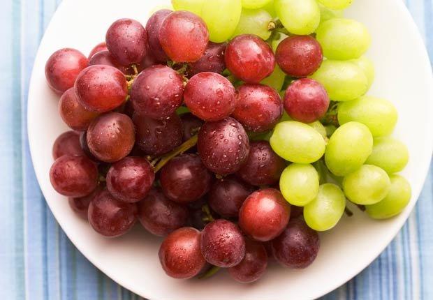 Uvas - 10 pasabocas bajos en calorias