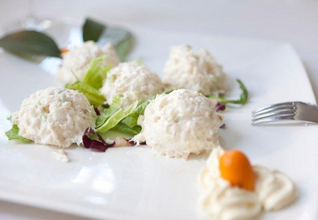 Cod with cream, Italian style Bacalao a la crema