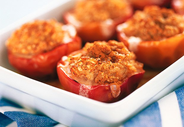 Stuffed apples manzanas otonales rellenas de dos carnes, 10 Recipes for Autumn