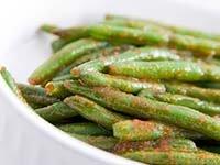 Judías verdes salteadas en salsa de maní picante