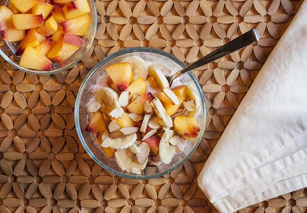 Latin Desserts for Diabetics Fruit Salad Toasted Oats ESP