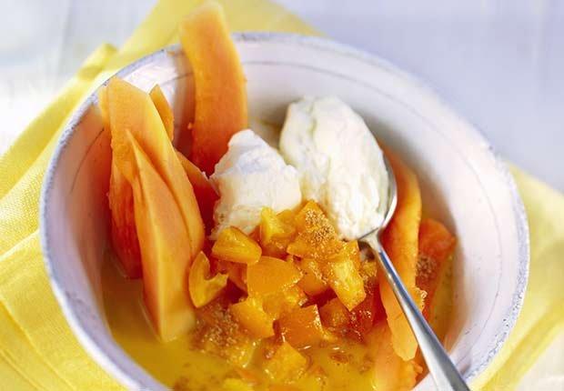 Latin Desserts for Diabetics Baked Papaya ESP