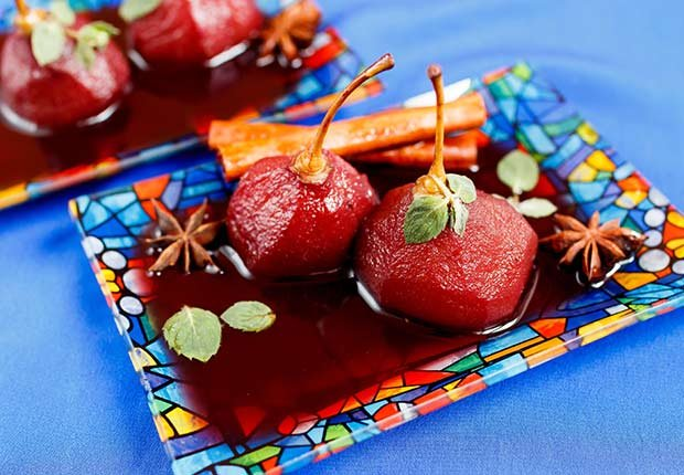 Latin Desserts for Diabetics Pear Wine Sauce ESP