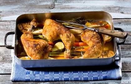 Receta de pollo Marbella