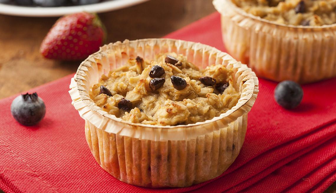 Muffins sobre un plato