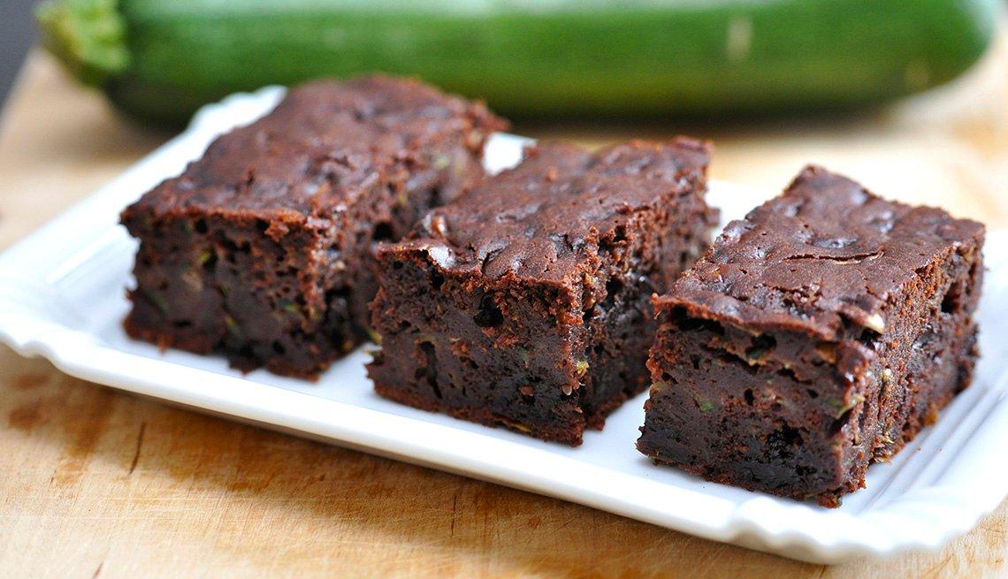 Brownies servidos en un plato