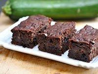 'Brownies' de calabacines sin harina