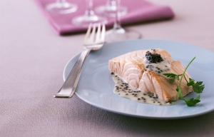 Poached Salmon with Champagne, Recipe