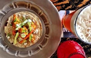Tacos de coliflor con chile verde