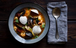 Fish Stew Clams Mussels Recipe Bowl ESP