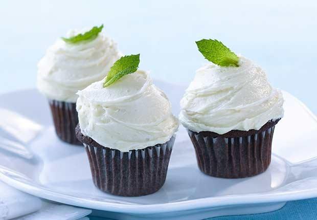 Cupcakes de chocolate a la menta