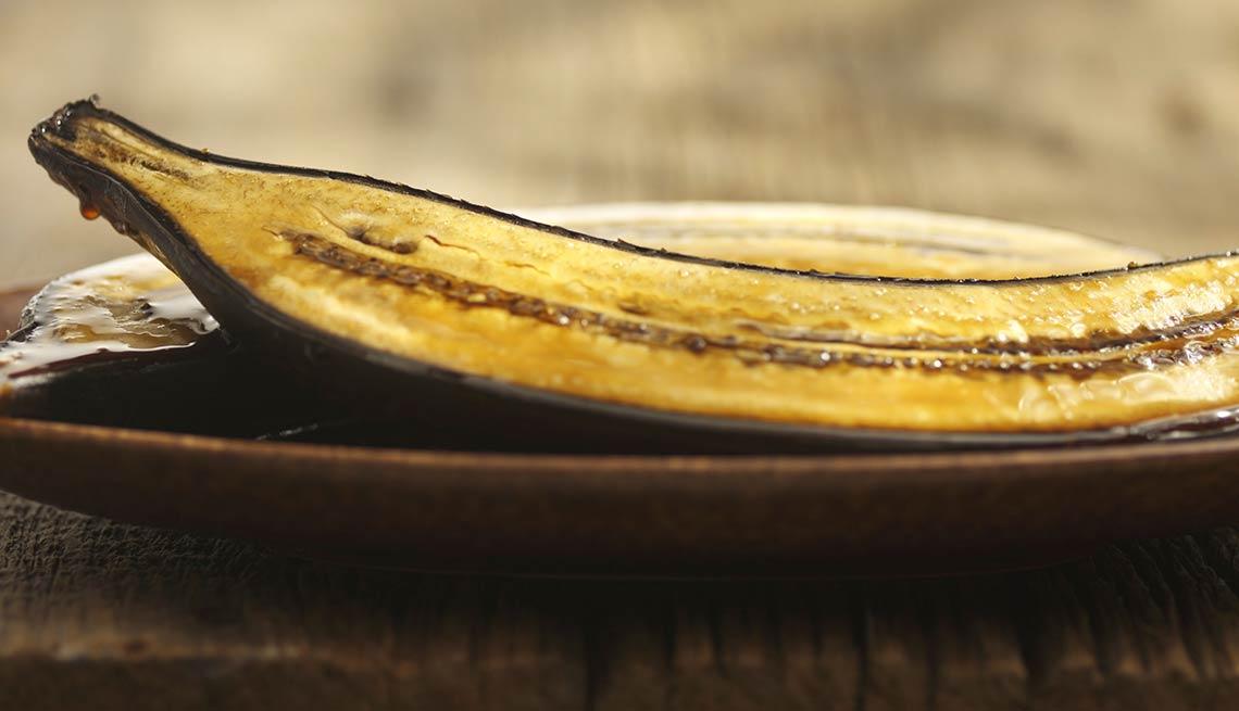 Canoas de plátano maduro