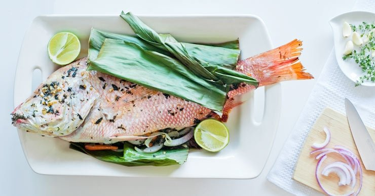 Pardo rojo en verduras receta de Denisse Oller