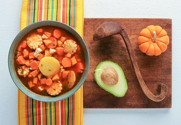 Ajiaco colombiano vegetariano