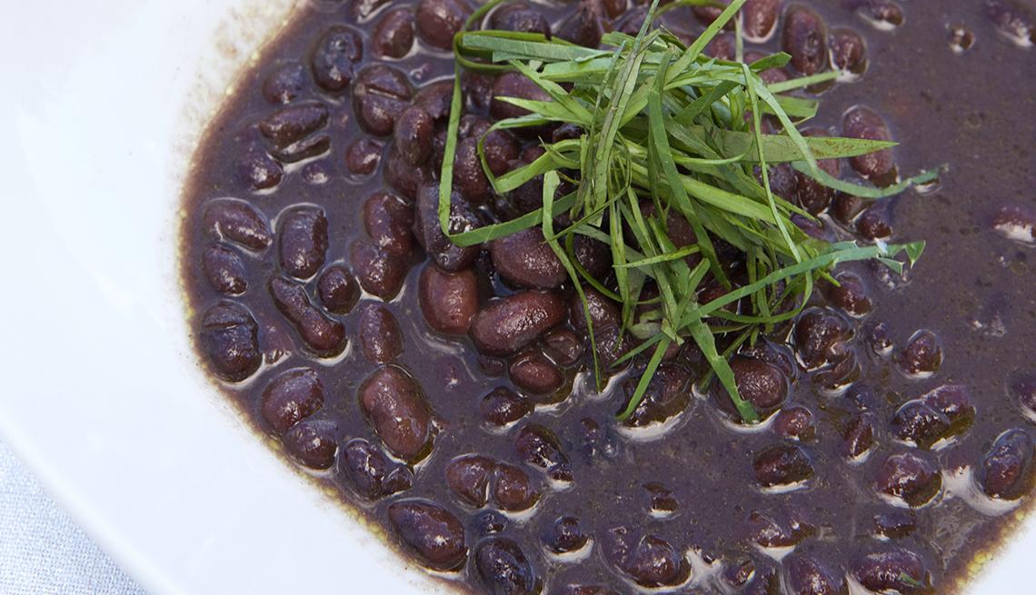 La sopa de frijoles negros de Gloria