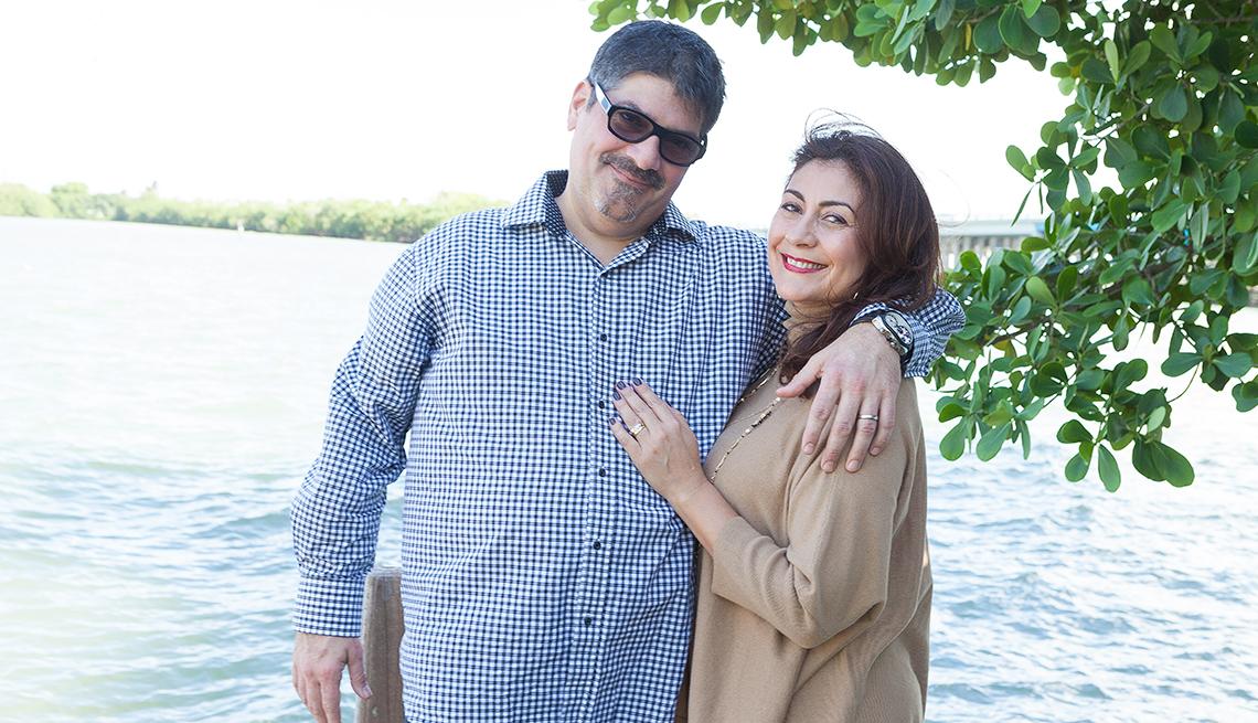 El chef Douglas Rodriguez y su esposa Nelly