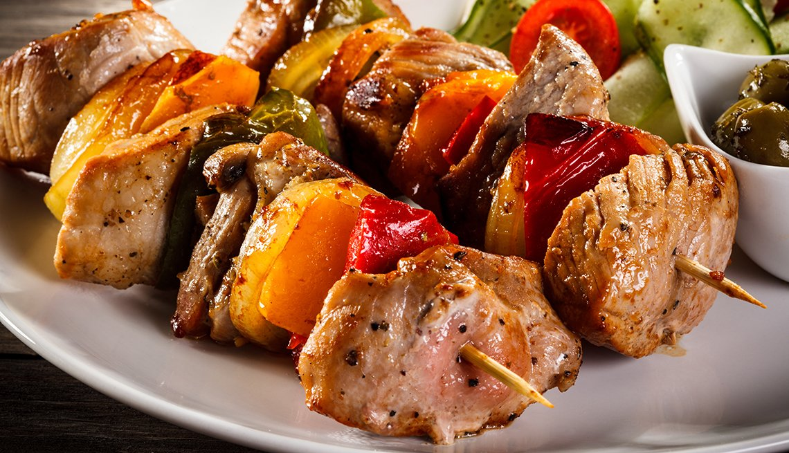 Grilled chicken kabob