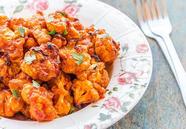 Coliflor horneada con salsa de chipotle