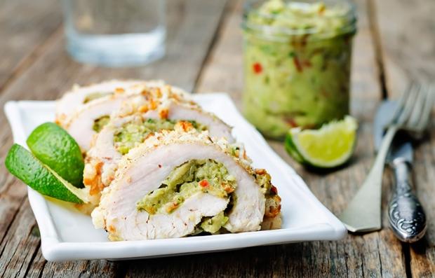Pechugas de pollo rellenas de guacamole