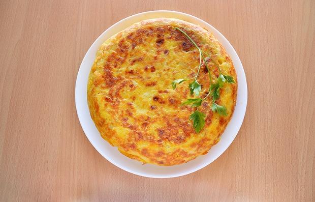 Tortilla de batata y chorizo