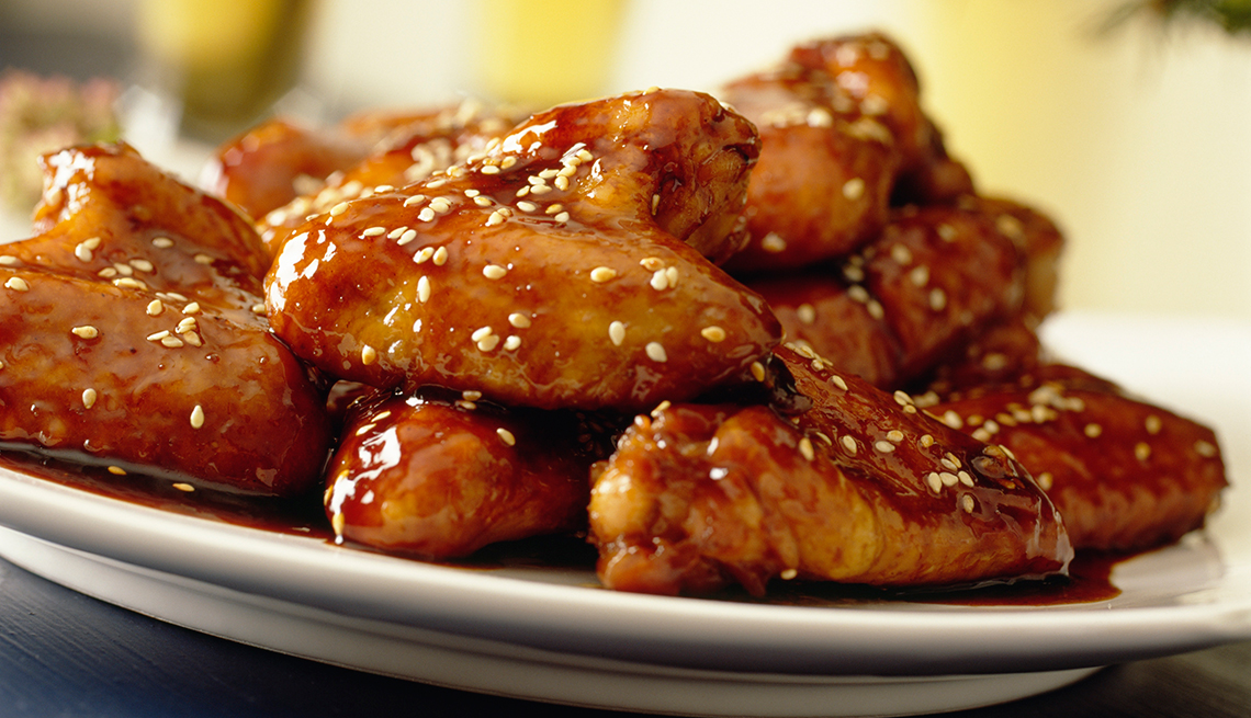 Alas de pollo con especias asiáticas