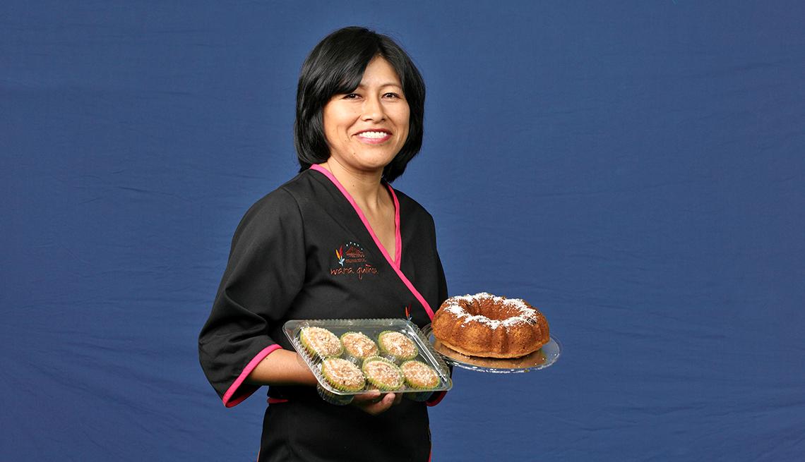 Chef Ana Chipana sonríe