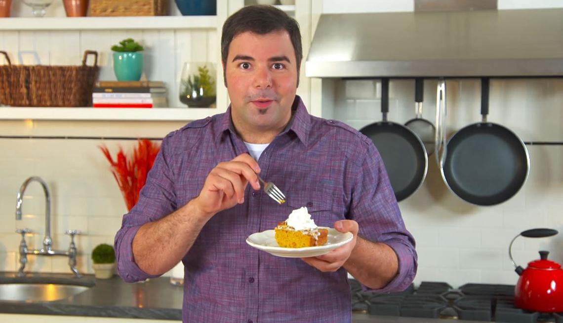 Chef George Durán en la cocina