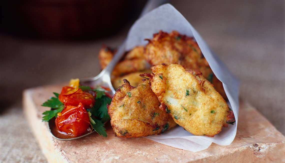 Trozos de pescado frito