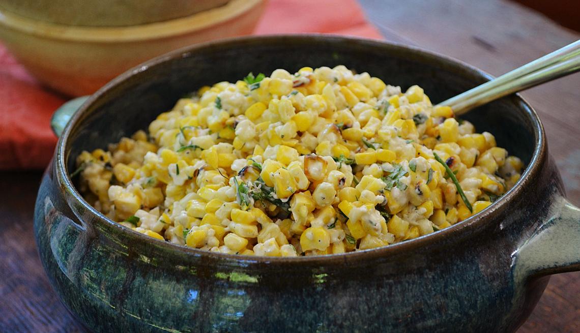Plato con maíz