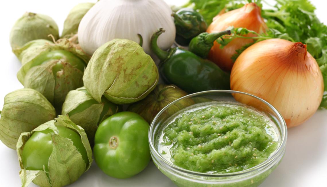 Ingredientes para hacer la salsa verde