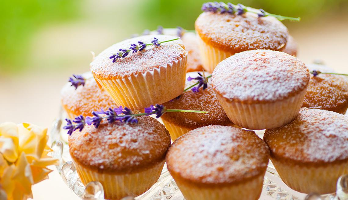 Muffins agrupados unos sobre otro