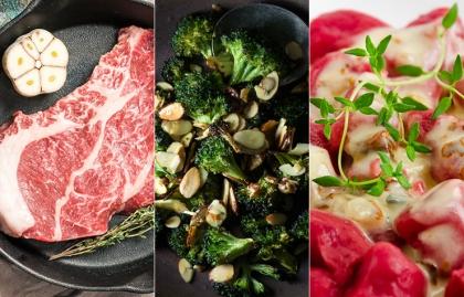 Collage de fotos con 3 recetas diferentes