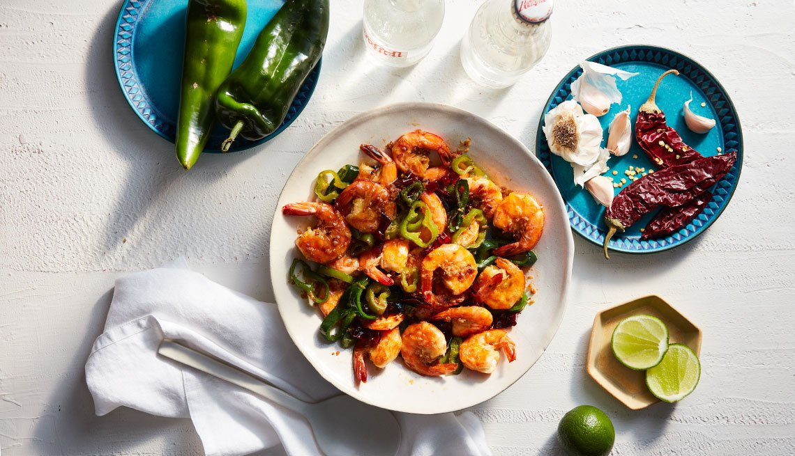 Zarela Martínez's shrimp recipe