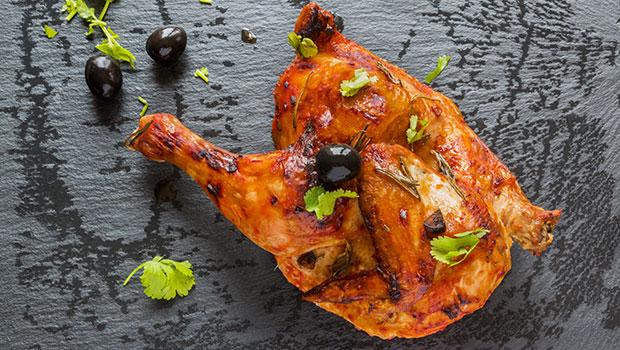 Pollo entero crujiente