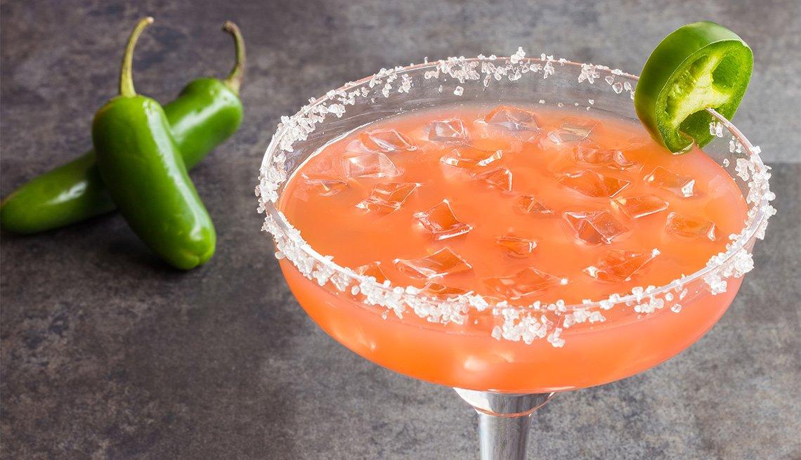 Margarita de jalapeño y guayaba