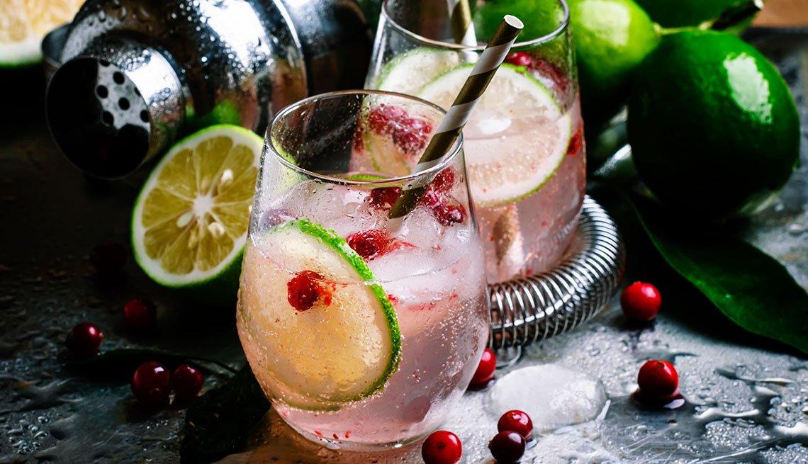 Bebida Rosy gin y tonic