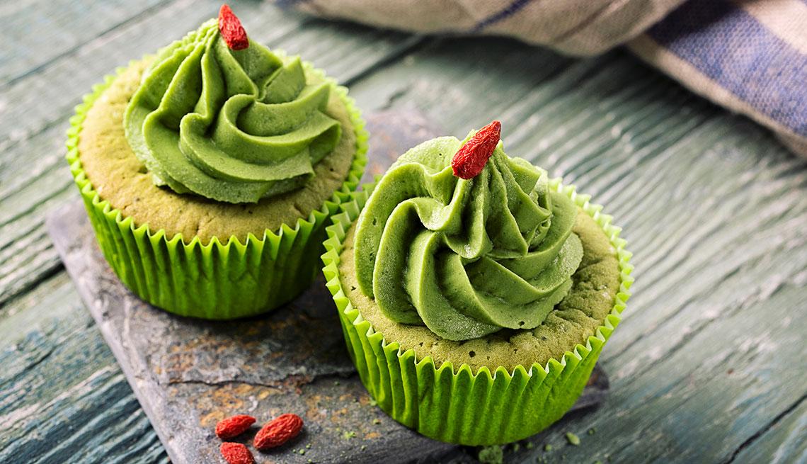 Cupcakes de matcha