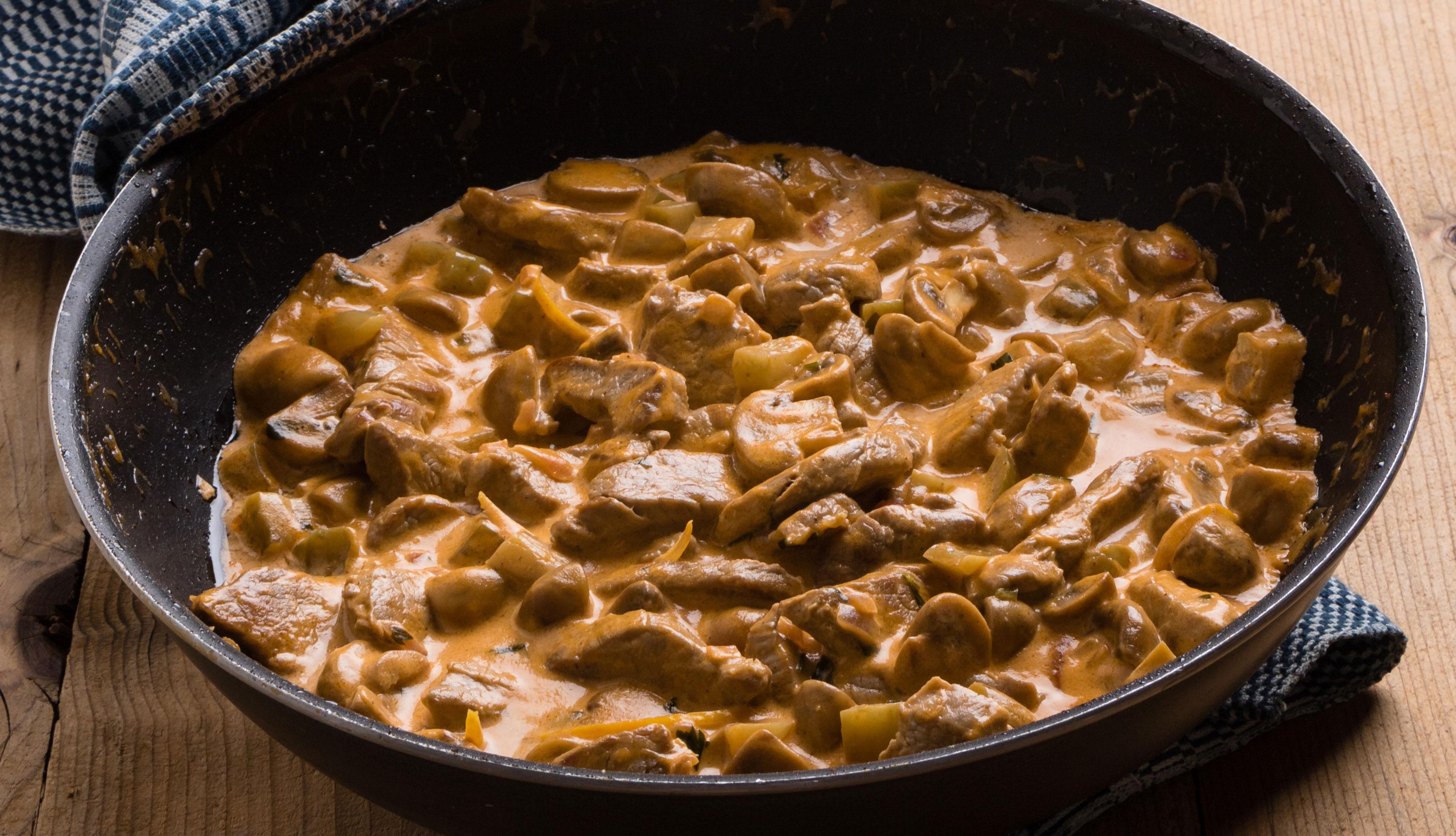 Estofado de coliflor y carne de res