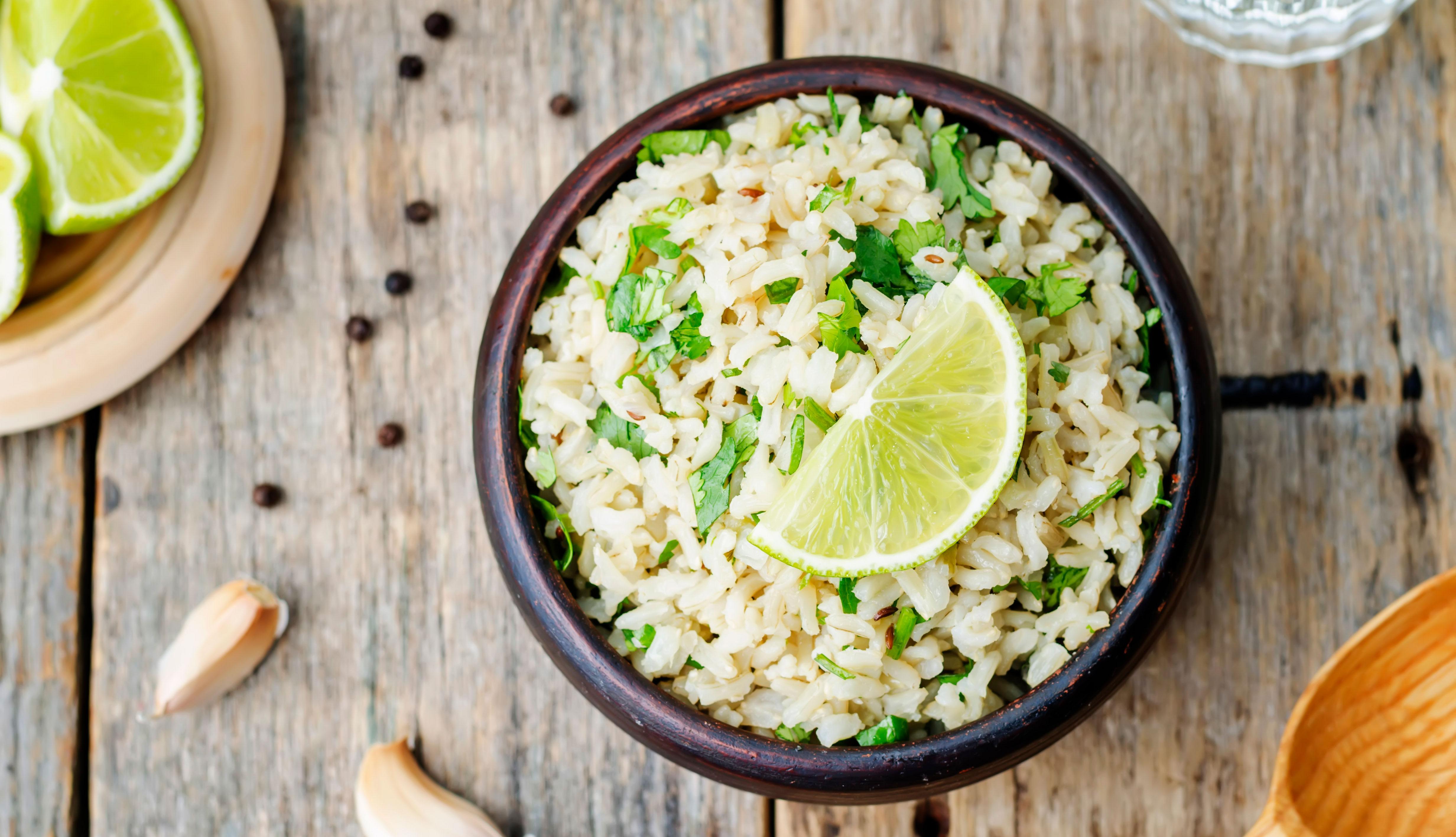 Receta de arroz esmeralda