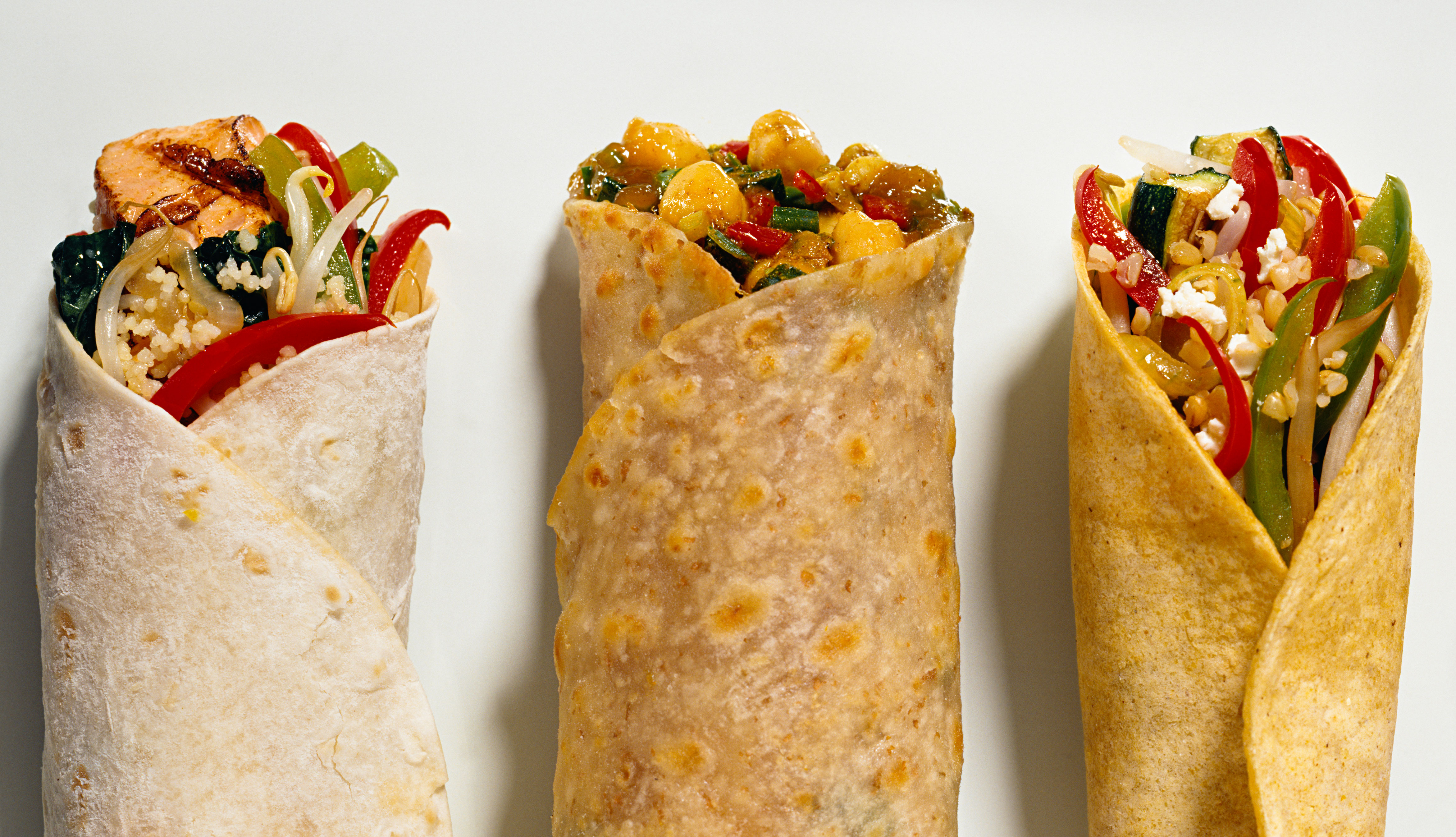 Burritos de vegetales