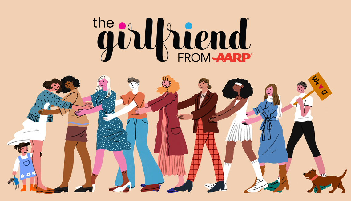 The Girlfriend - illustration with logo