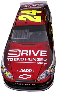 Driving To End Hunger #24 car