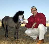 Magic the Horse with owner Jorge Garcia-Bengochea
