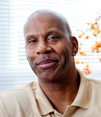 Former NBA all-star Kermit Washington in his Leesburg, Virginia, home. Washington is an official liaison between the active players branch and the retired players branch of the NBPA and has supported medical aid in Nairobi for 15 years.