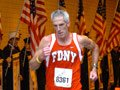 Mature runner on the Tunnel to Towers run - volunteer on 9/11 day