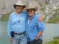 Ginger and Fritz Morrison during horseback trek to Holy Lake.