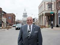 Frank Price, who lives just down the street from the state Capitol in Springfield, finds lobbying on behalf of seniors for AARP Illinois to be a rewarding endeavor.
