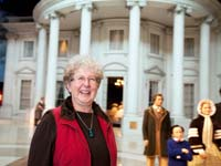 AARP volunteer Mary Clough is also a volunteer at the Abraham Lincoln Presidential Library and Museum in Springfield.