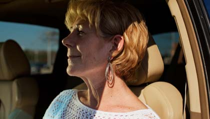 Cyndi Yakshe provides rides to older people who no longer drive.