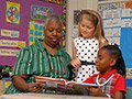Adult reading to kids, AARP Experience Corps Donors